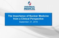 The Importance of Understanding Clinical Nuclear Medicine for Health Care Technology Managers