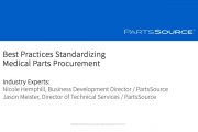 Best Practices for Standardizing Medical Parts Procurement