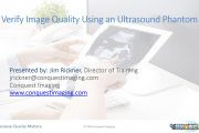 Verify Image Quality Using an Ultrasound Phantom