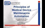 Principles of Medical Equipment Maintenance Automation