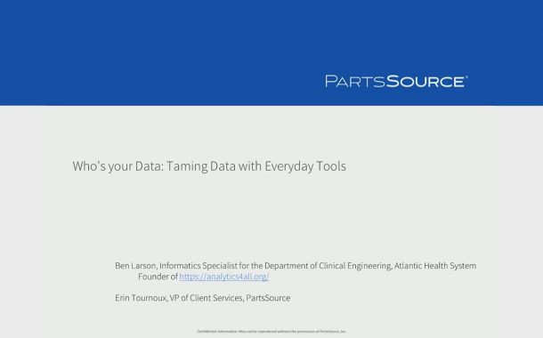 MD Expo Dallas 2016 - Who's Your Data: Taming data with everyday tools