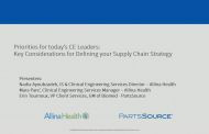 Priorities for today's CE Leaders: Key Considerations for Defining your Supply Chain Strategy
