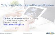 Verify Image Quality Using an Ultrasound Phantom
