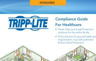 Download your free Compliance Guide For Healthcare courtesy of Tripp Lite - Sponsored by Tripp Lite