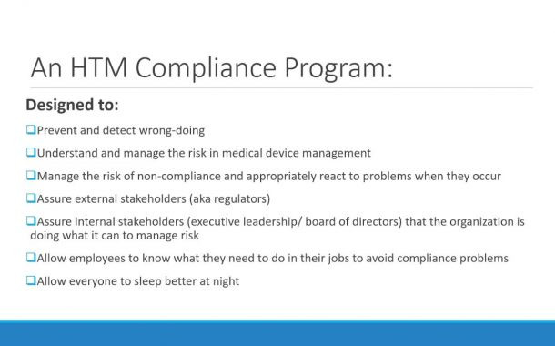 What does Compliance Mean for the HTM Department?
