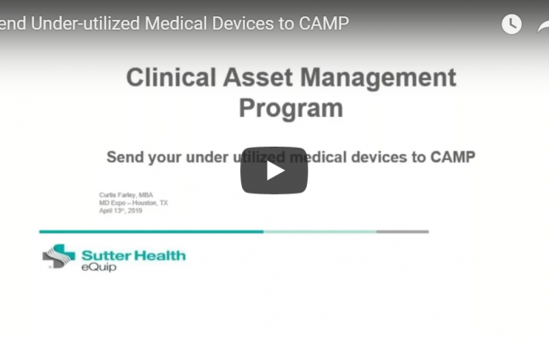 Send Under-utilized Medical Devices to CAMP