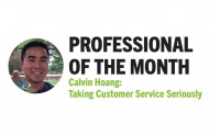 Professional of the Month: Calvin Hoang - Taking Customer Service Seriously