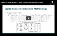 Creating & Implementing a Capital Replacement Planning Initiative