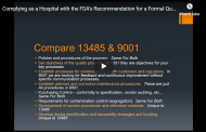 Complying as a Hospital with the FDA's Recommendation for a Formal Quality Management System