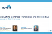 Evaluating Contract Transitions and Project ROI with a Focus on Data Governance