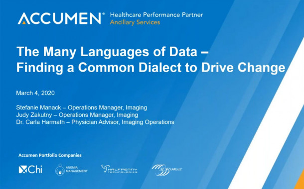 The Many Languages of Data: Finding a Common Dialect to Drive Change