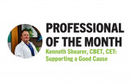 Professional of the Month Kenneth Shearer, CBET, CET: Supporting a Good Cause
