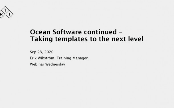 Webinar Delivers Additional Ocean Software Knowledge