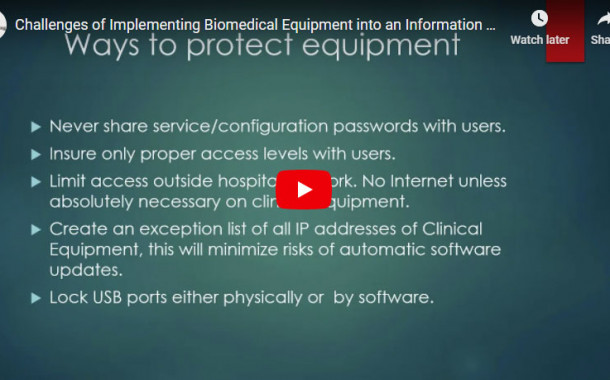 Challenges of Implementing Biomedical Equipment into an Information Technology Environment