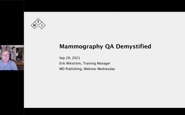 Webinar Explores Mammography QA