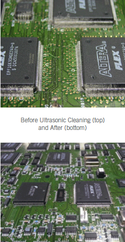 Before Ultrasonic Cleaning and After