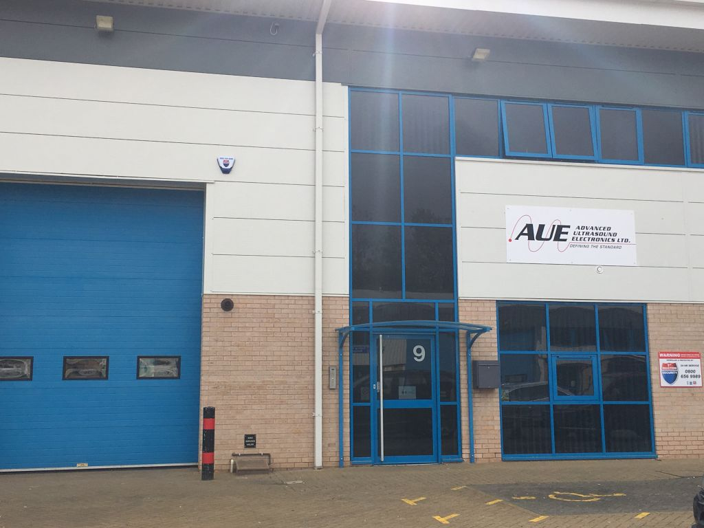 Advanced Ultrasound Electronics (AUE) has opened a new sales, repairs, and inventory warehouse facility in Northampton, England.