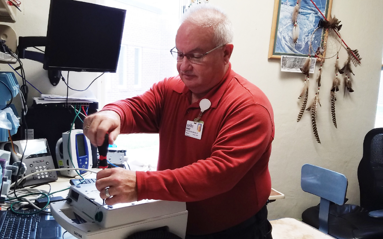 Mike Dugal CBET, BSIT is in his 27th year as a Biomedical Technician.