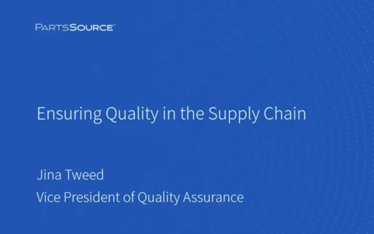 Ensuring Quality In The Supply Chain
