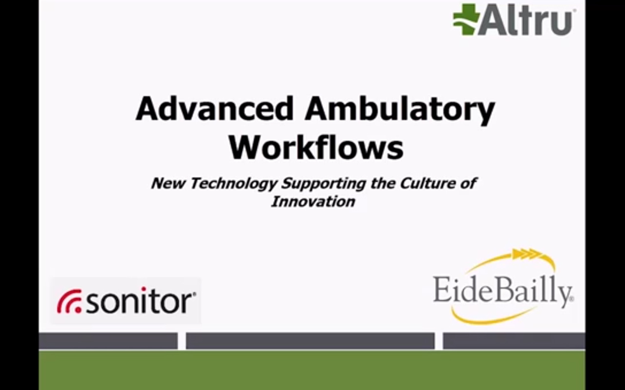 Advanced Ambulatory Workflow - New Technology Supporting the Culture of Innovation