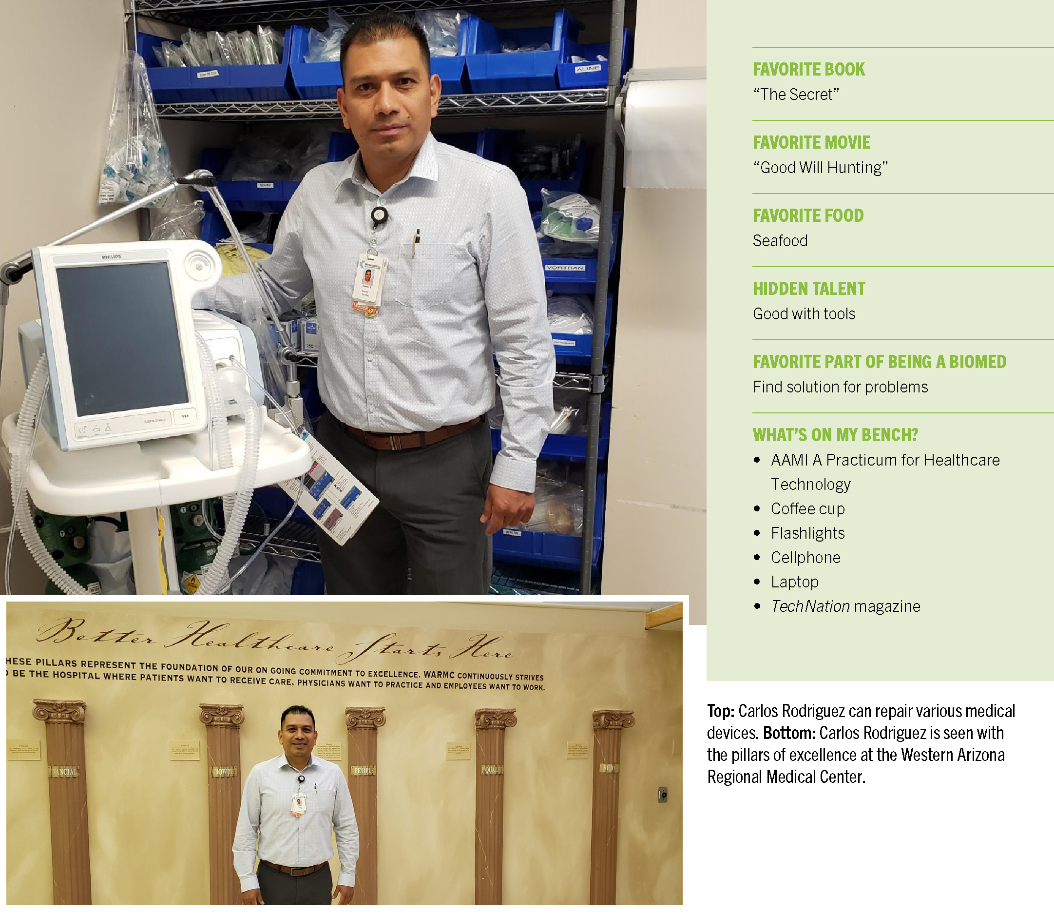 Professional of the Month: Carlos Rodriguez, MBA, CBET