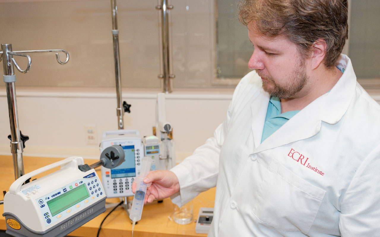 ECRI Update: Testing Syringe Infusion Pumps
