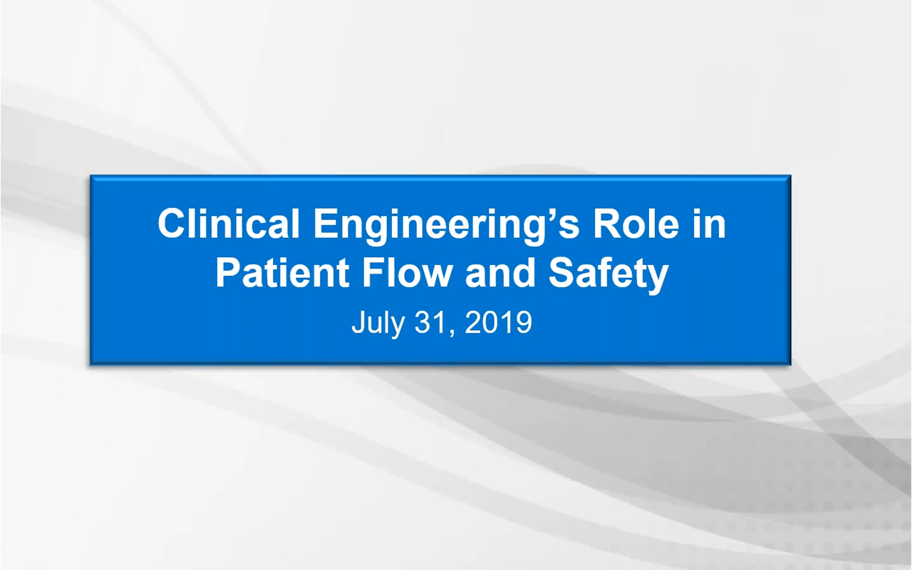 WEBINAR: HTM Can Impact Patient Flow, Safety