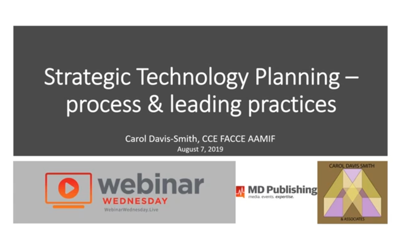 Strategic Technology Planning - Process and Leading Practices