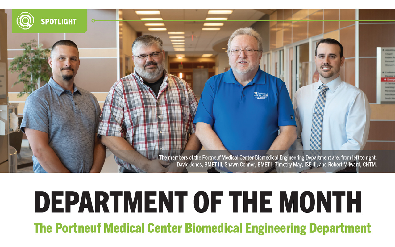 Department of the Month: The Portneuf Medical Center Biomedical Engineering Department