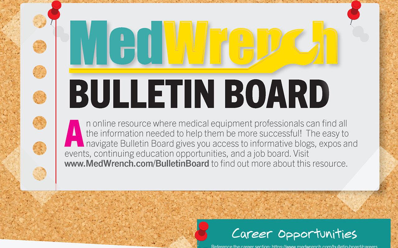[Sponsored] MedWrench Bulletin Board - November 2019