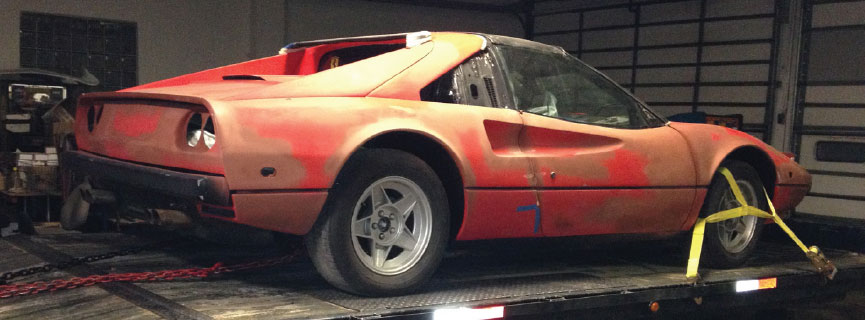 Cliff Hall bought a Ferrari 308 GTS off eBay with hopes of restoring it.