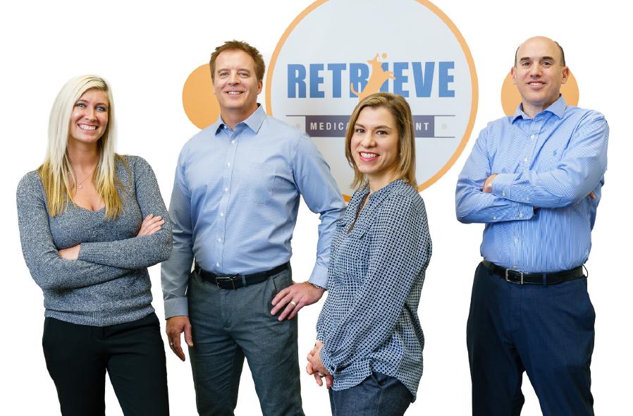 Key staff at Retrieve Medical Equipment with Randall Brunswick, owner, far right.