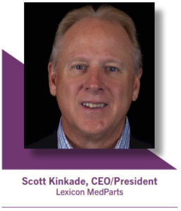 Scott Kinkade, CEO and president of Lexicon MedParts