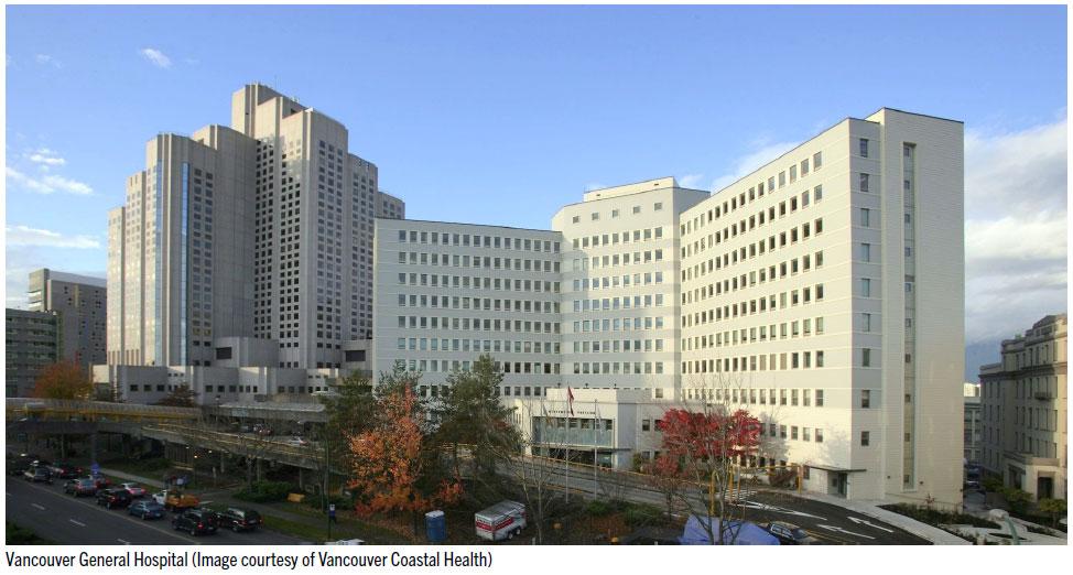 Vancouver General Hospital (Image courtesy of Vancouver Coastal Health)