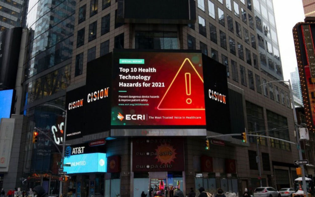 ECRI Update: A Look at the Top 10 Health Technology Hazards for 2021