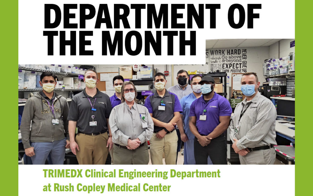 TRIMEDX Clinical Engineering Department at Rush Copley Medical Center